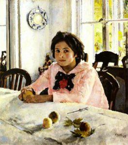 Девочка с персиками