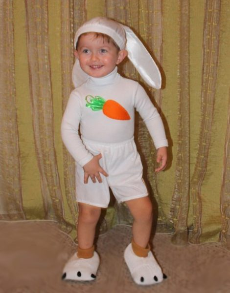 костюм зайчика для мальчика своими руками