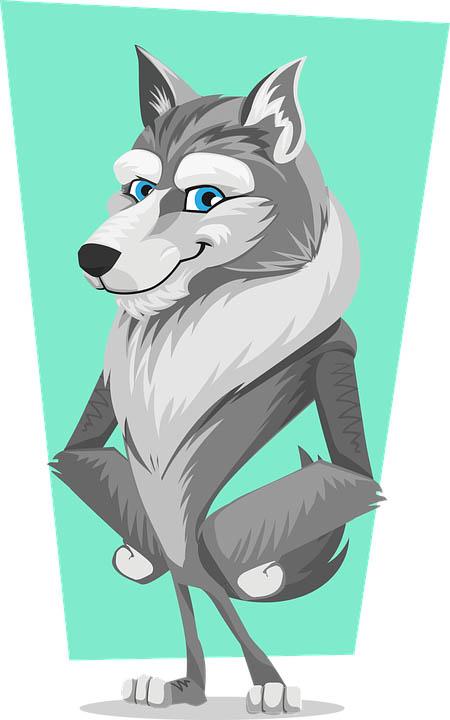 Картинка волка для детей, прикольные картинки волков - смотреть 2