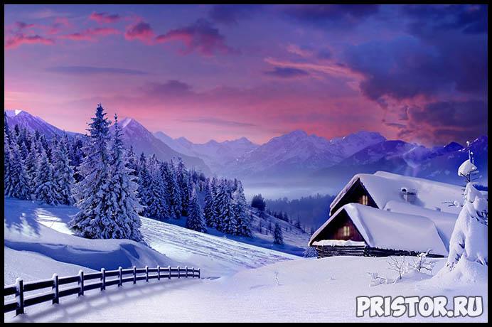 Красивые фото зимней природы, зима - красивые фото природы 4