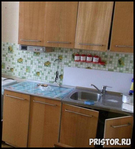 Обновляем фасад старой кухни своими руками
