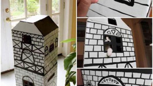 Домики для кошек своими руками - фото, пошагово смотреть 3