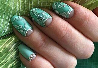 3d узоры маникюр на короткие ногти