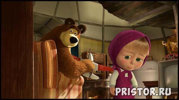 Маша и Медведь - картинки из мультфильма, прикольные, смешные 1