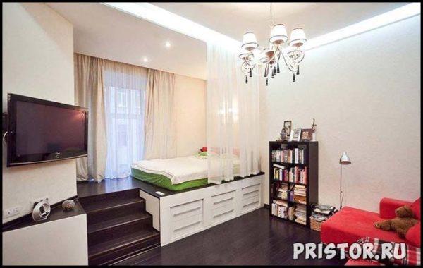 Дизайн однокомнатной квартиры с ребенком - интересные варианты 11