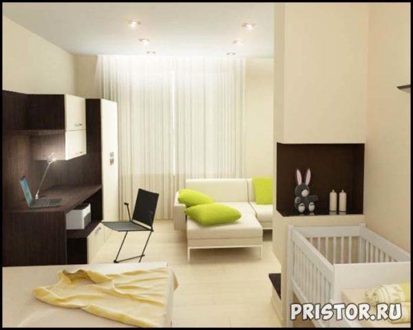 Дизайн однокомнатной квартиры с ребенком - интересные варианты 6