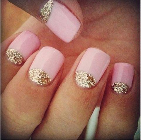 Идея маникюра на короткие ногти фото - красивый дизайн ногтей 8