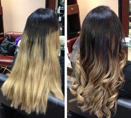 Амбре окрашивание волос - фото на длинные волосы, обзор 2