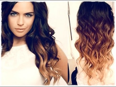 Амбре окрашивание волос на темные волосы - фото 1