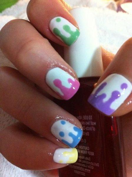 Идея маникюра на короткие ногти фото - красивый дизайн ногтей 6