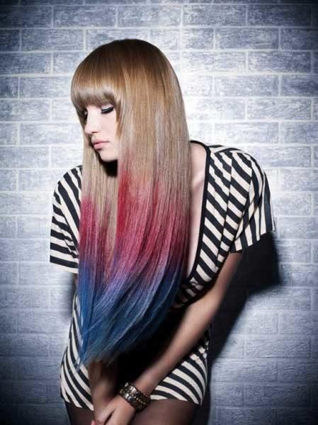 Амбре окрашивание волос - фото на длинные волосы, обзор 3