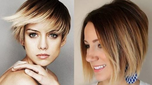 Омбре окрашивание волос на короткие волосы - фото 7