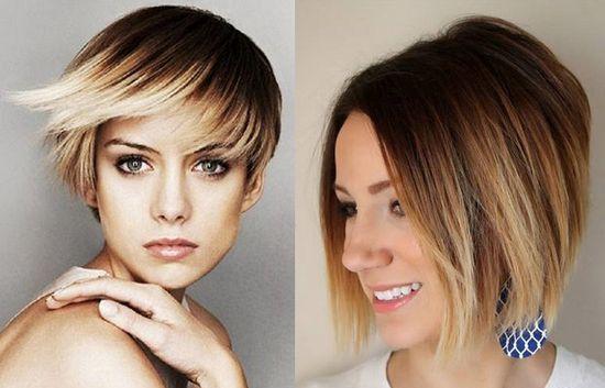 окрашивание волос фото на каре