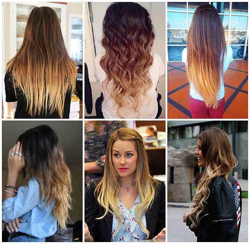 Амбре окрашивание волос - фото на длинные волосы, обзор 6