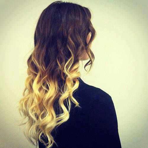 Амбре окрашивание волос - фото на длинные волосы, обзор 7
