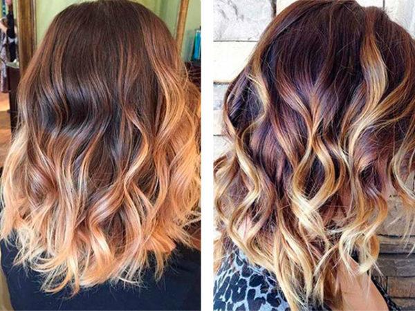 Омбре окрашивание волос на короткие волосы - фото 11