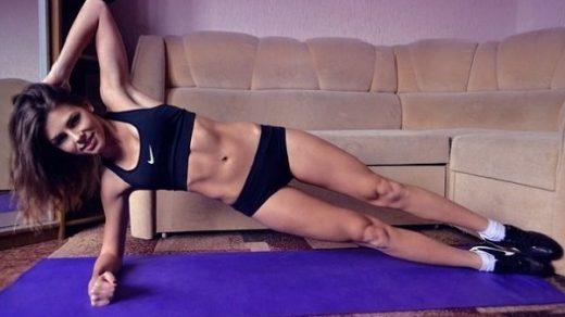 Боковая планка на локте упражнение фото