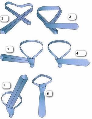 Как завязать галстук пошагово - фото, простой способ, видео 3