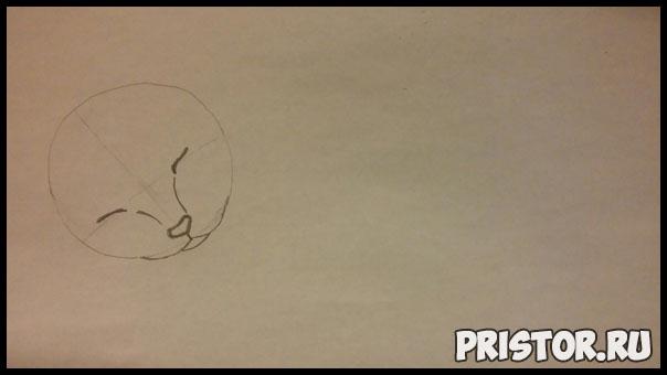 Как нарисовать котенка поэтапно карандашом - смотреть с фото 1
