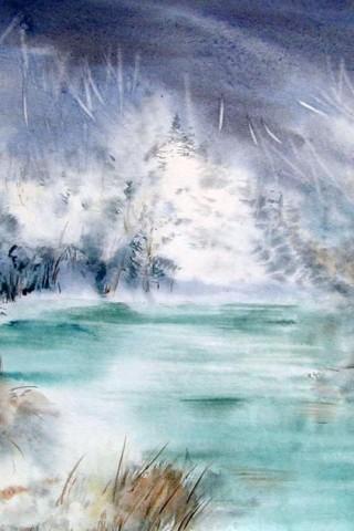 Картинки зима на телефон - красивые и прикольные скачать бесплатно 8