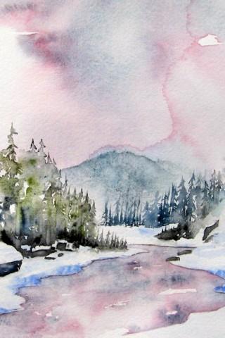 Картинки зима на телефон - красивые и прикольные скачать бесплатно 9