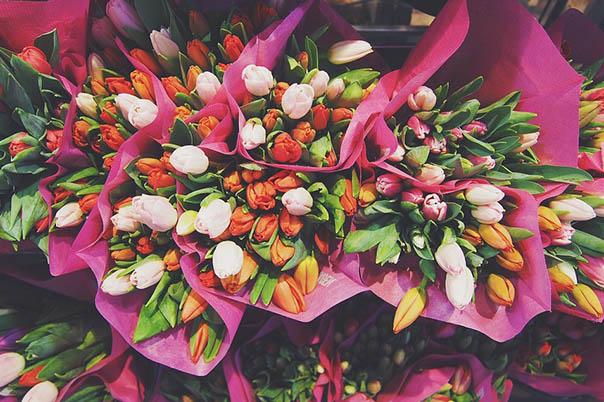 Красивые букеты из живых цветов - фото, картинки, удивительные 16