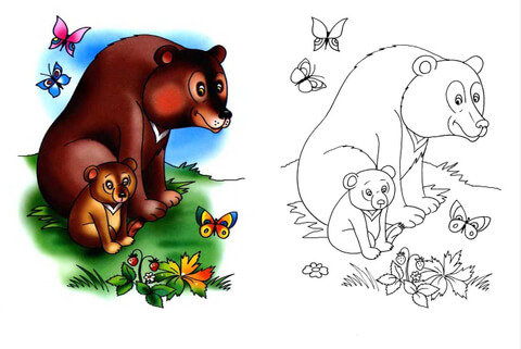 Медведь картинки для детей, медвежонок картинки для детей 5