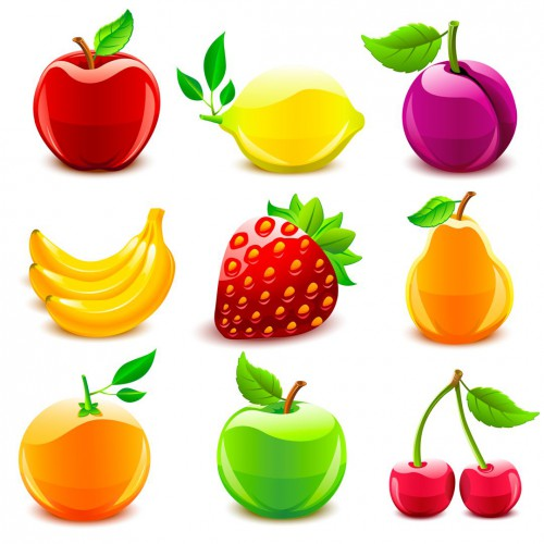 картинки ягод и фруктов для детей