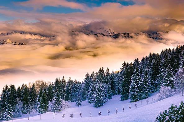Очень красивые картинки зима природа, фото природы зимы - смотреть 12