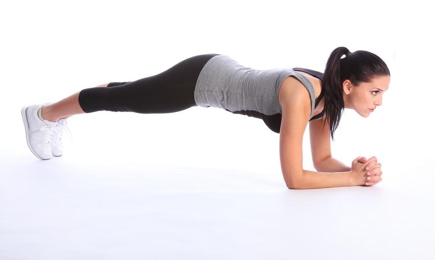 Планка на локтях упражнение фото