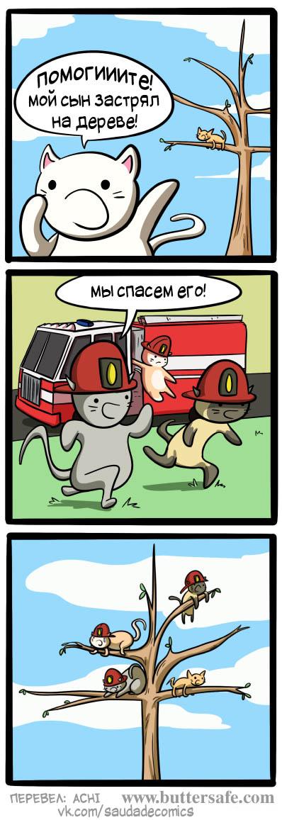 Прикольные и смешные комиксы про котов - смотреть бесплатно 1