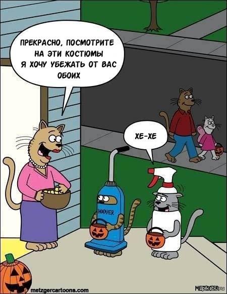 Прикольные и смешные комиксы про котов - смотреть бесплатно 4