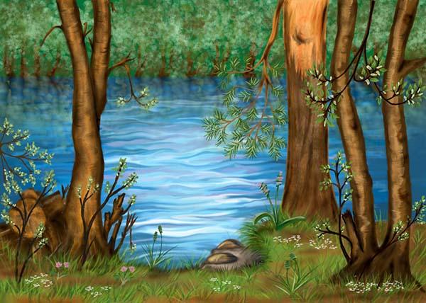 Природа картинки нарисованные, охрана природы картинки красивые 2