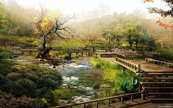 Природа картинки нарисованные, охрана природы картинки красивые 11