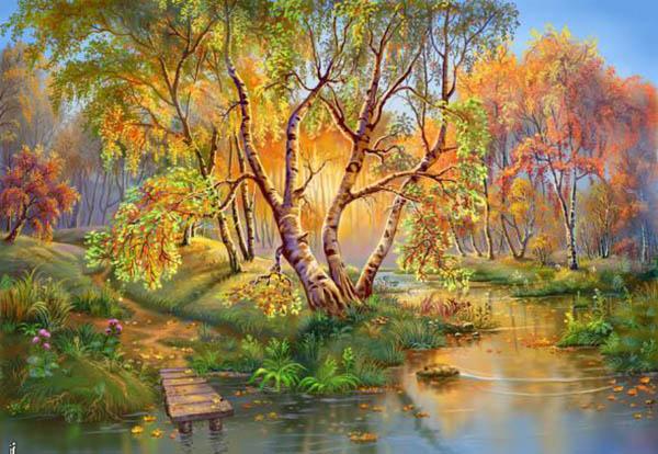 красивые нарисованные картинки природы