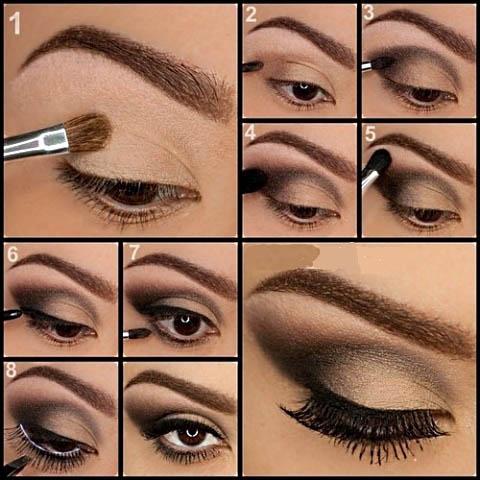 Лёгкий макияж для глаз пошаговое в домашних условиях