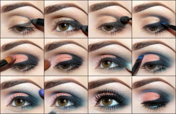 Макияж для карих глаз - пошаговое фото в домашних условиях 3