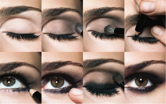 Макияж для карих глаз - пошаговое фото в домашних условиях 4