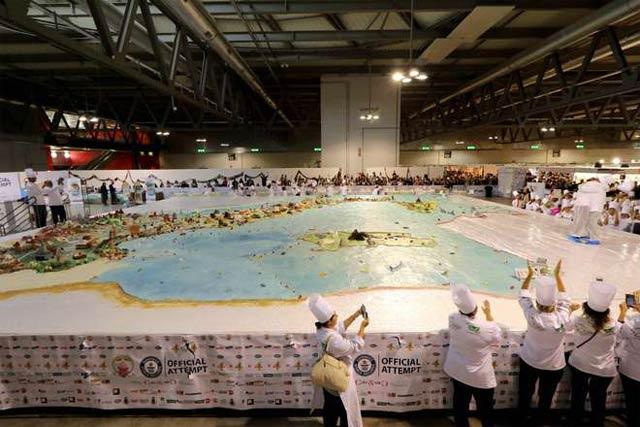 Самый большой торт в мире в Италии, фото самых больших тортов 1