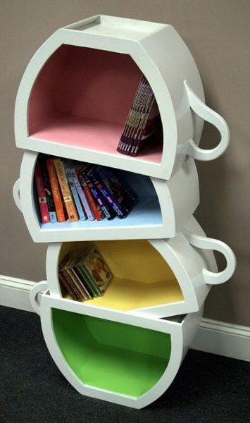 Интересные фото книжных полок - красивые, прикольные 7