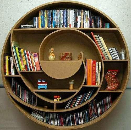 Интересные фото книжных полок - красивые, прикольные 2
