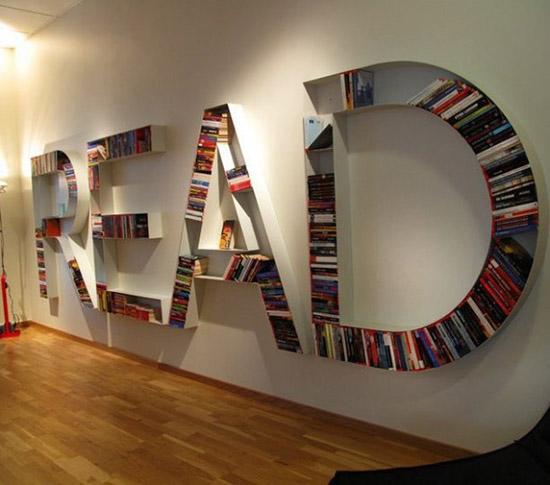 Интересные фото книжных полок - красивые, прикольные 3