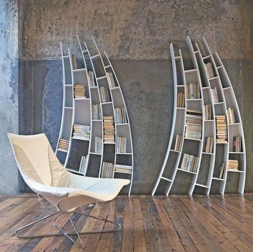 Интересные фото книжных полок - красивые, прикольные 6