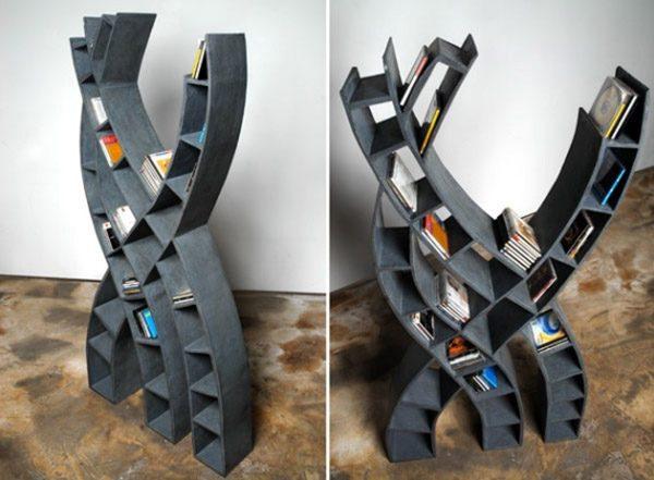 Интересные фото книжных полок - красивые, прикольные 9
