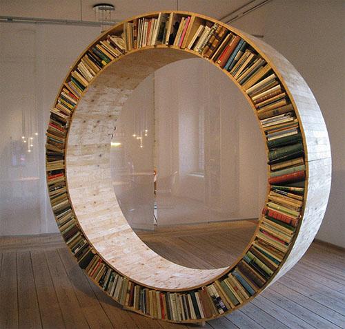 Интересные фото книжных полок - красивые, прикольные 10