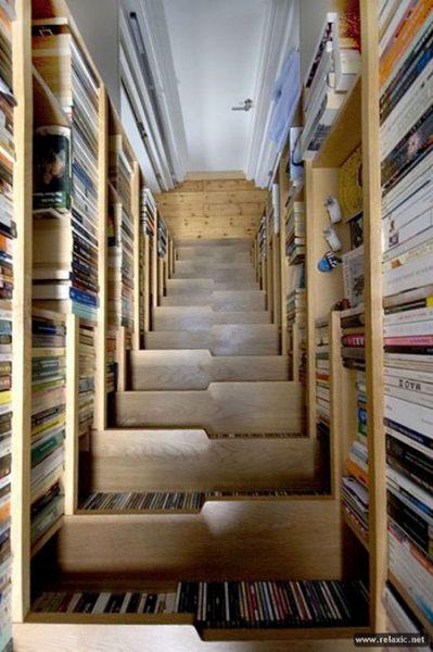 Интересные фото книжных полок - красивые, прикольные 17
