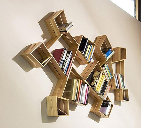 Интересные фото книжных полок - красивые, прикольные 16