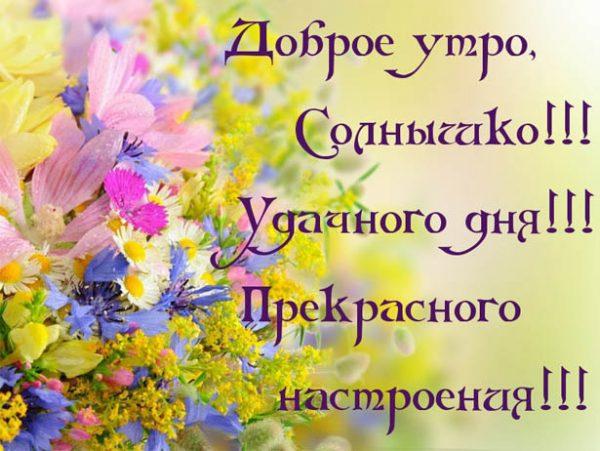 Доброе утро солнышко открытка 16