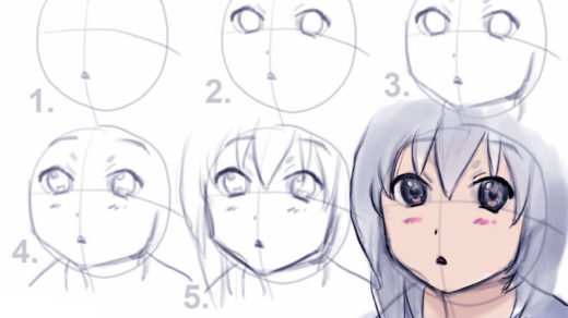 Как рисовать Аниме карандашом для начинающих - описание, фото 2