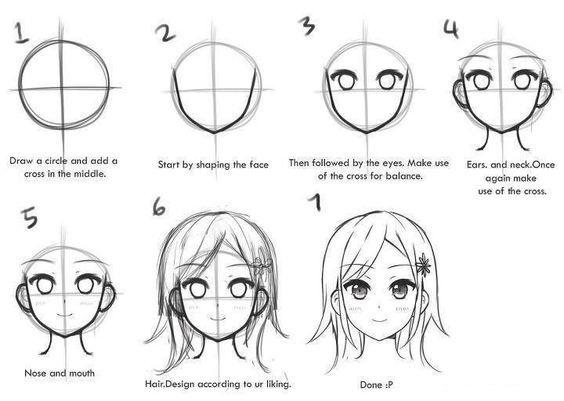 Как рисовать Аниме карандашом для начинающих - описание, фото 4